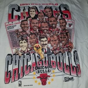 Vintage OG '91Chicago Bulls Champions Team Tee